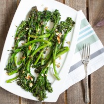 Roasted Garlic Broccolini   Cooking with a Wallflower