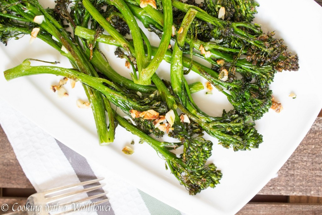 Roasted Garlic Broccolini | Cooking with a Wallflower