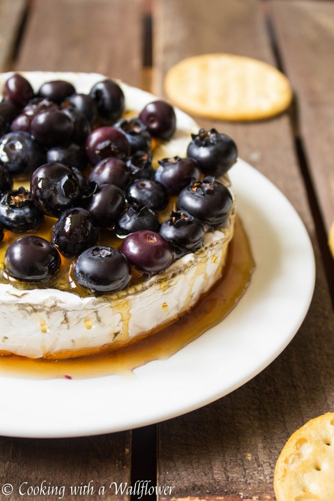 Baked Brie with Honey and Blueberries   Cooking with a Wallflower