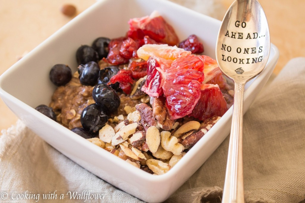 Chocolate Oat Breakfast Bowl   Cooking with a Wallflower