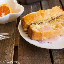 Meyer Lemon Loaf with Blood Orange Glaze | Cooking with a Wallflower