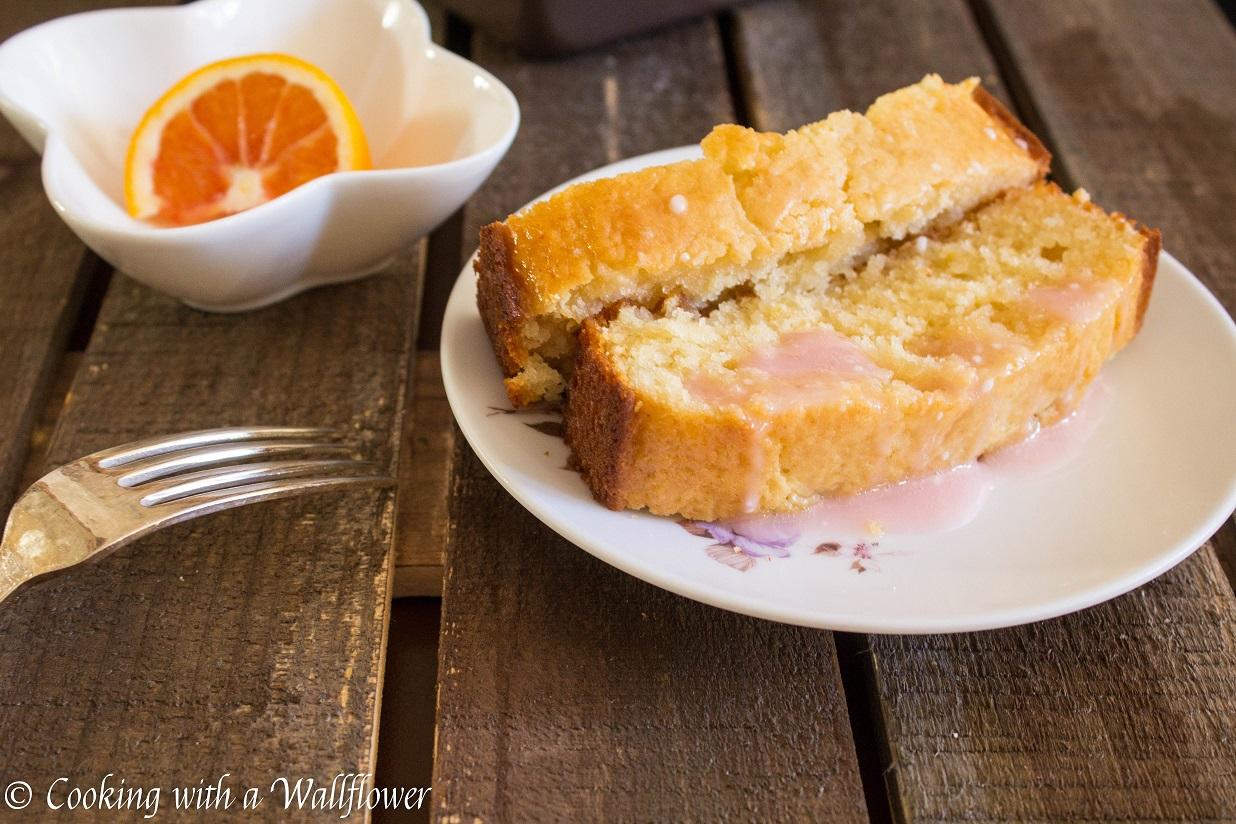 Meyer Lemon Loaf with Blood Orange Glaze