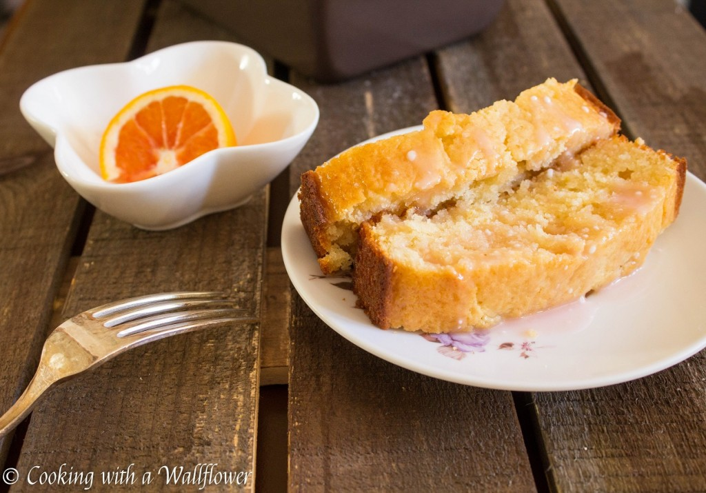 Meyer Lemon Loaf with Blood Orange Glaze | Cooking with a Wallflower