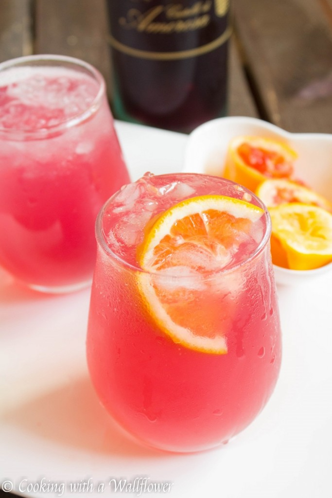 Rosé Blood Orange Lemonade | Cooking with a Wallflower