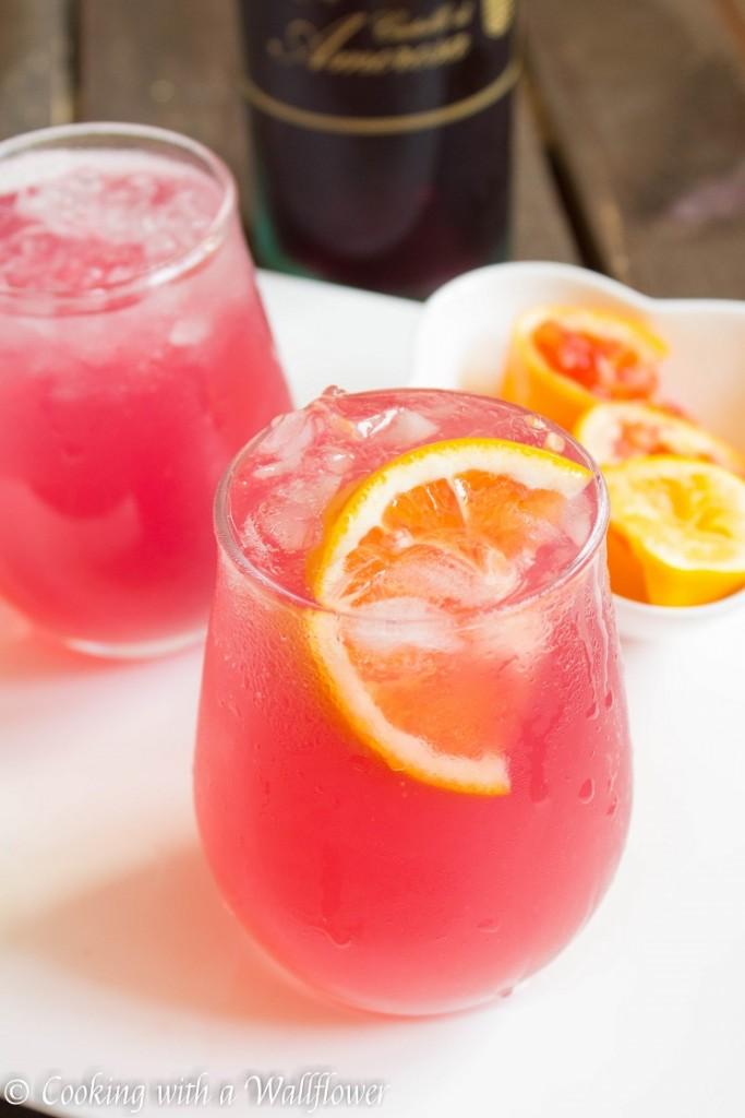 Rosé Blood Orange Lemonade | Cooking with a Wallflower