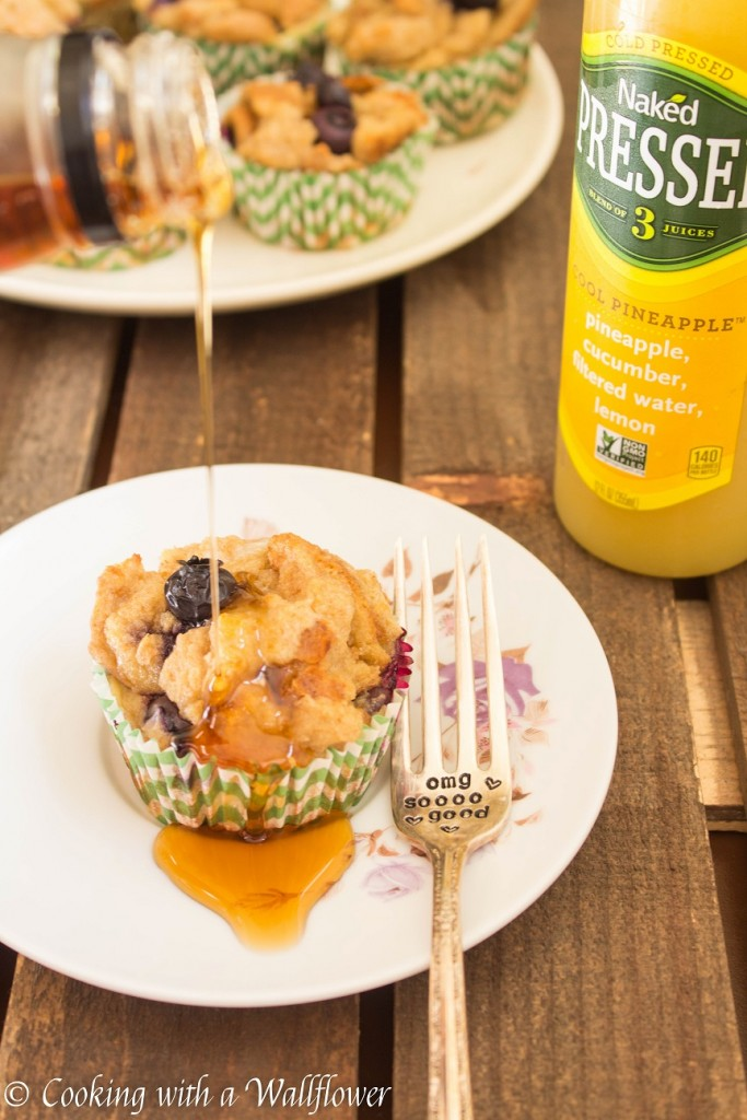 Baked Blueberry Coconut French Toast Cups | Cooking with a Wallflower