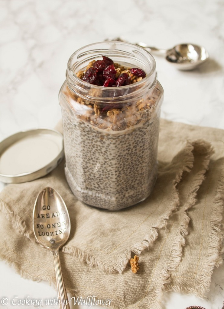 Vanilla Chia Pudding with Granola | Cooking with a Wallflower