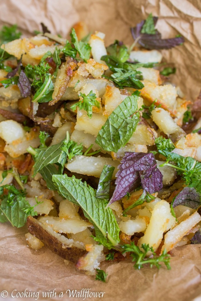 Crispy Truffle Fries with Fresh Herbs | Cooking with a Wallflower