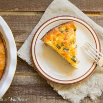 Crustless Ham and Cheddar Quiche | Cooking with a Wallflower