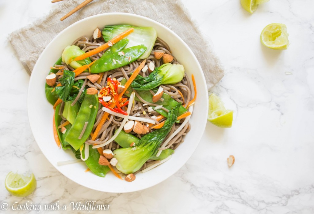 ... lime dressing. This fresh vegetable soba noodle salad with soy lime