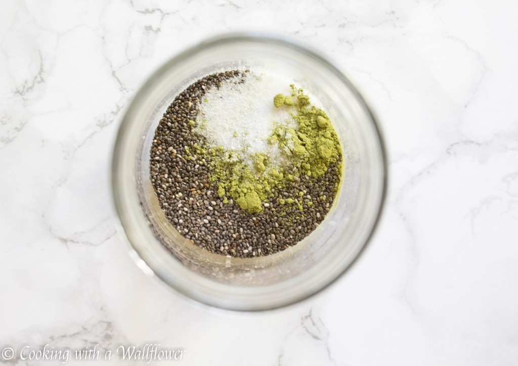 Green Tea Chia Pudding with Shredded Coconut and Almonds   Cooking with a Wallflower