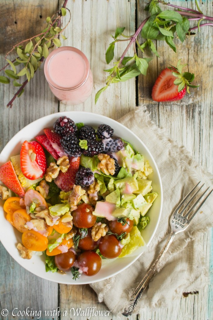 Strawberry Citrus Yogurt Dressing | Cooking with a Wallflower
