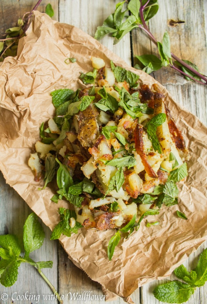 Crispy Garlic Fries with Fresh Herbs | Cooking with a Wallflower