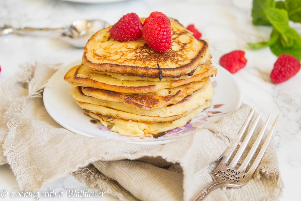 Meyer Lemon Ricotta Pancakes | Cooking with a Wallflower