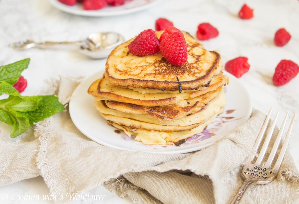 Meyer Lemon Ricotta Pancakes | Cooking with a Wallflower
