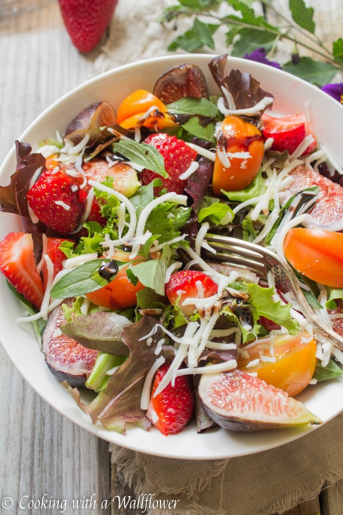 Strawberry Fig Caprese Salad | Cooking with a Wallflower