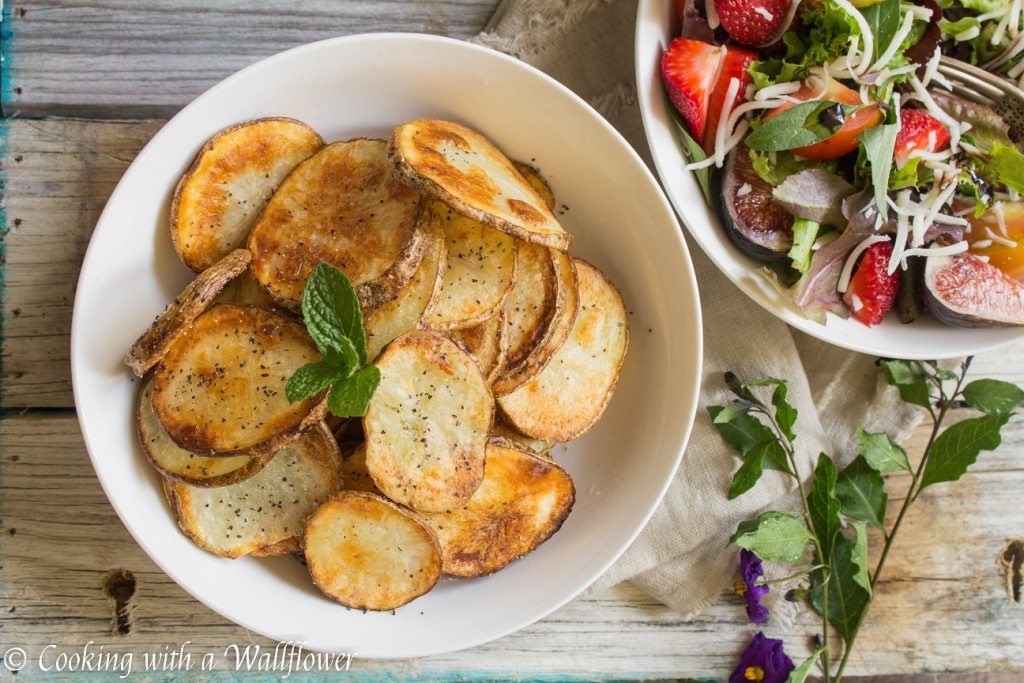 Baked Sea Salt and Pepper Potato Chips | Cooking with a Wallflower