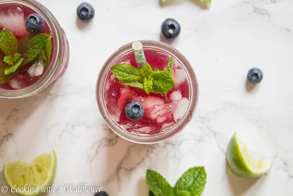 Blueberry Pomegranate Mint Limeade | Cooking with a Wallflower