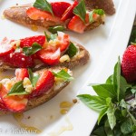 Honey Strawberry Basil Toast