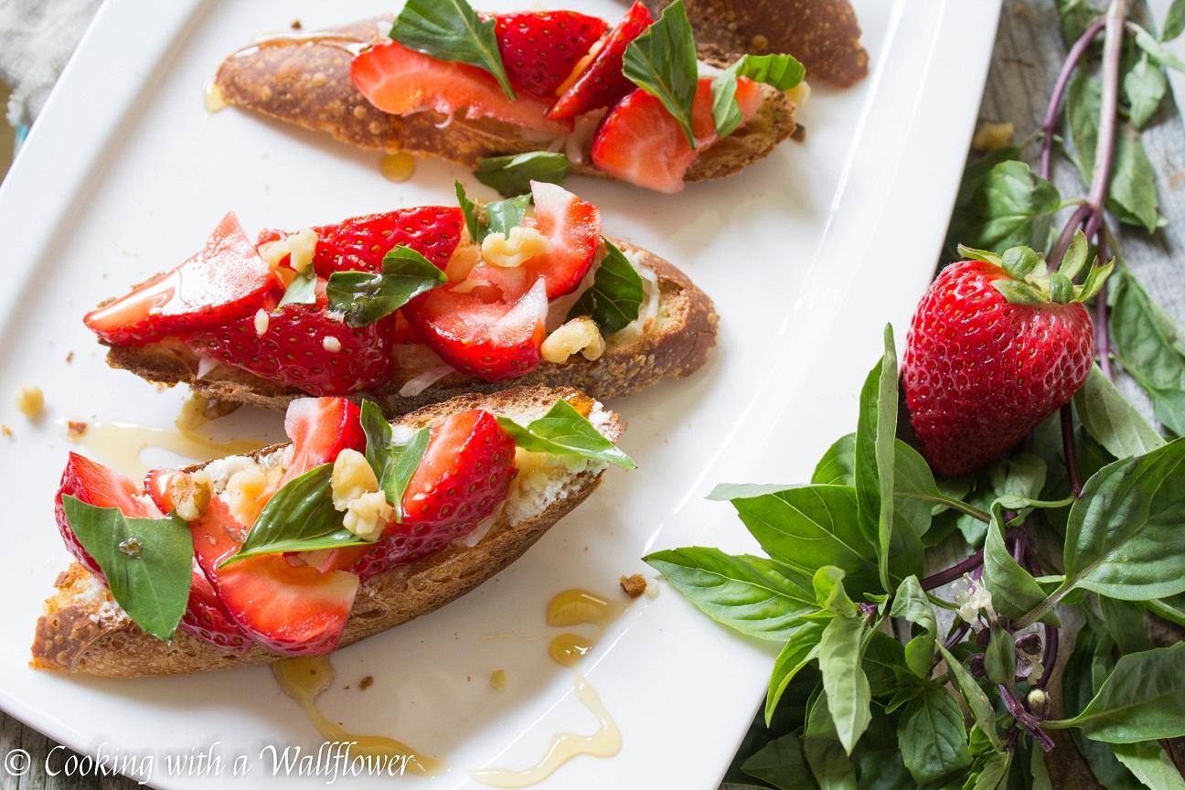 Honey Strawberry Basil Toast