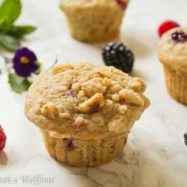 Mixed Berry Buttermilk Muffins   Cooking with a Wallflower