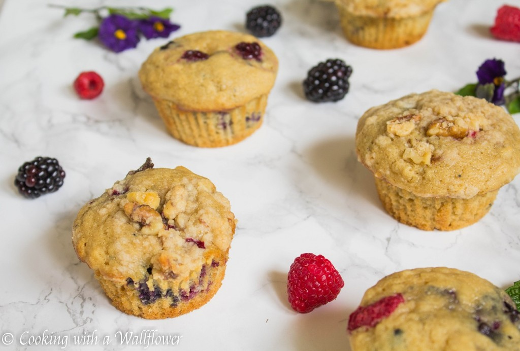 Mixed Berry Buttermilk Muffins | Cooking with a Wallflower