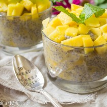 Overnight Mango Chia Pudding | Cooking with a Wallflower