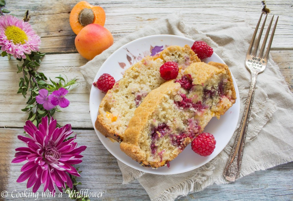 Raspberry Apricot Bread | Cooking with a Wallflower