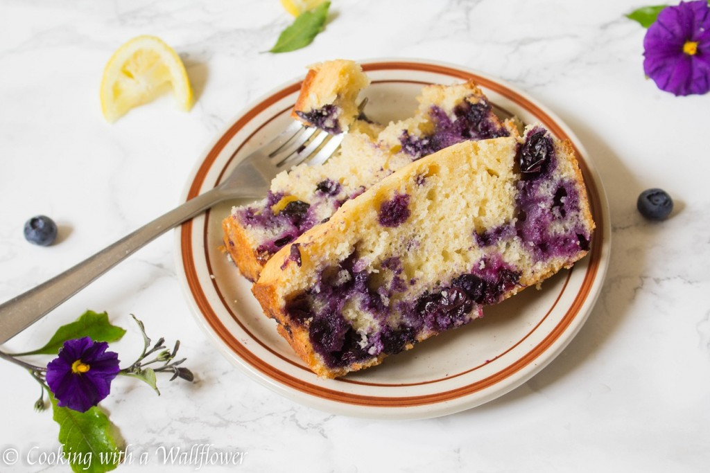 Glazed Blueberry Lemon Bread   Cooking with a Wallflower