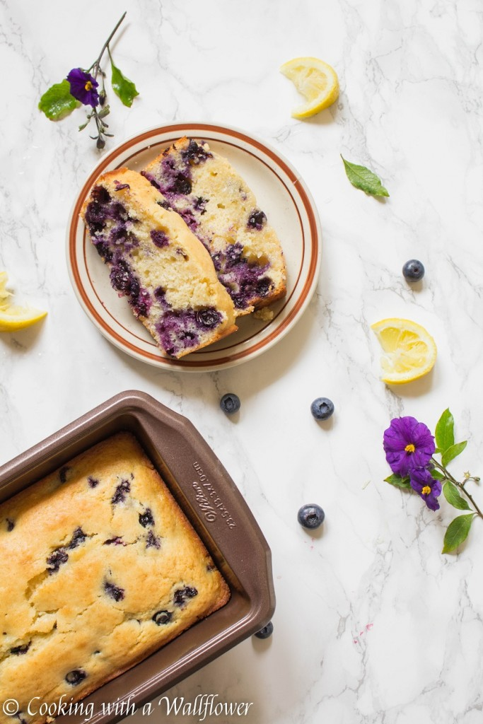 Glazed Blueberry Lemon Bread | Cooking with a Wallflower
