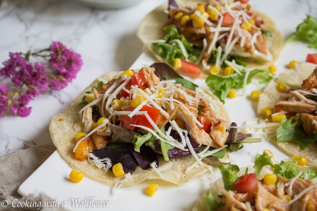 Honey Peach BBQ Chicken Tacos | Cooking with a Wallflower