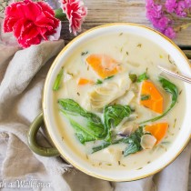 Creamy Spinach Artichoke Soup   Cooking with a Wallflower