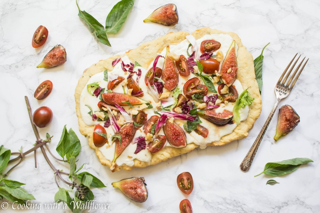 Fig Caprese Flatbread | Cooking with a Wallflower