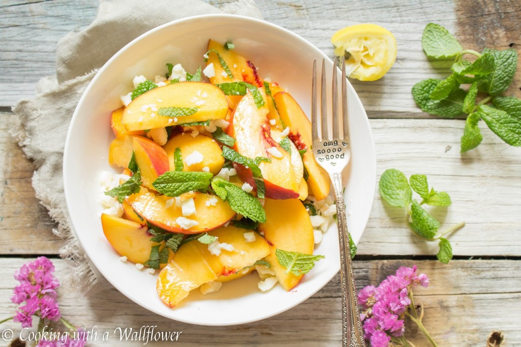 Peach Mint Salad | Cooking with a Wallflower