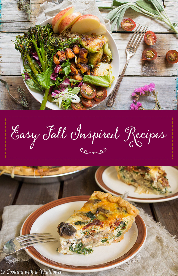 Easy Fall Inspired Recipes | Cooking with a Wallflower