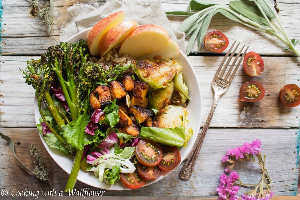 Farmer's Market Autumn Grain Bowls with Maple Balsamic Vinaigrette | Cooking with a Wallflower