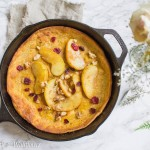 Pumpkin Dutch Baby Pancake with Caramelized Brown Sugar Apples