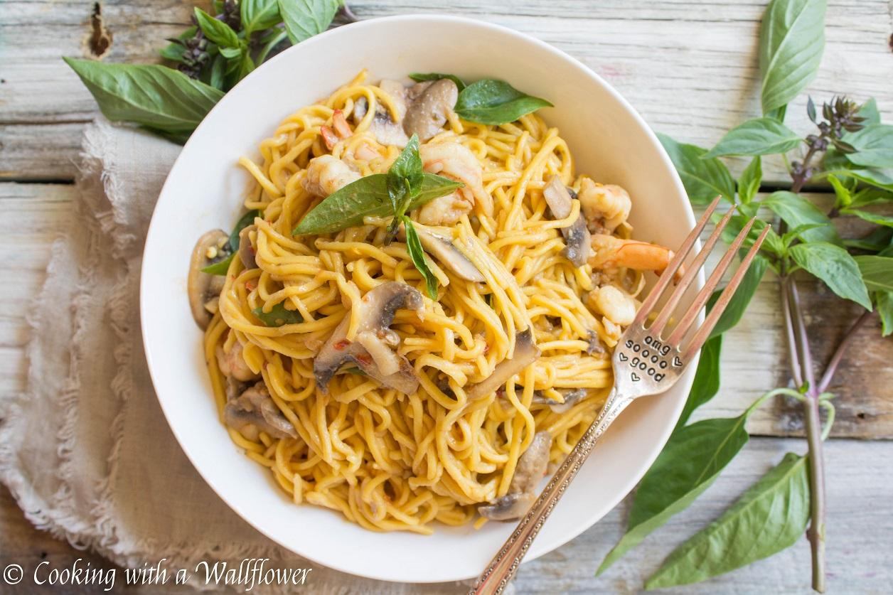 Spicy Shrimp Miso Garlic Butter Noodles