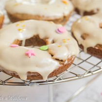 Apple Cider Doughnuts with Maple Glaze   Cooking with a Wallflower