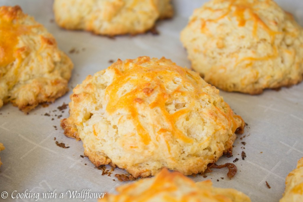 Chicken Pot Pie with Garlic Cheddar Biscuits | Cooking with a Wallflower