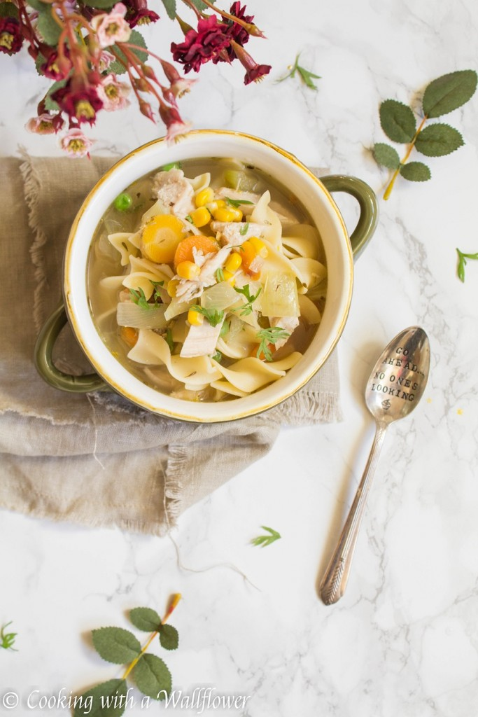 Leftover Turkey Noodle Soup | Cooking with a Wallflower