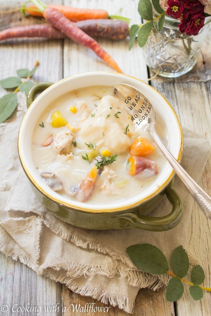 Leftover Turkey and Dumpling Soup | Cooking with a Wallflower