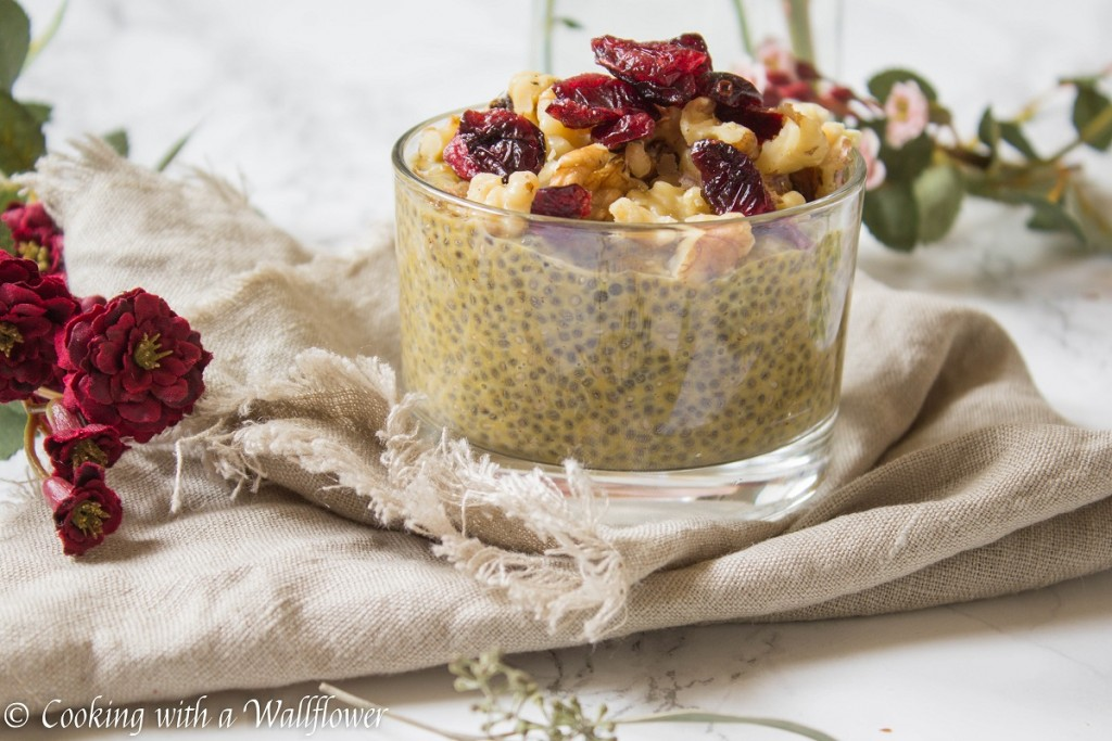Overnight Pumpkin Pie Chia Pudding | Cooking with a Wallflower