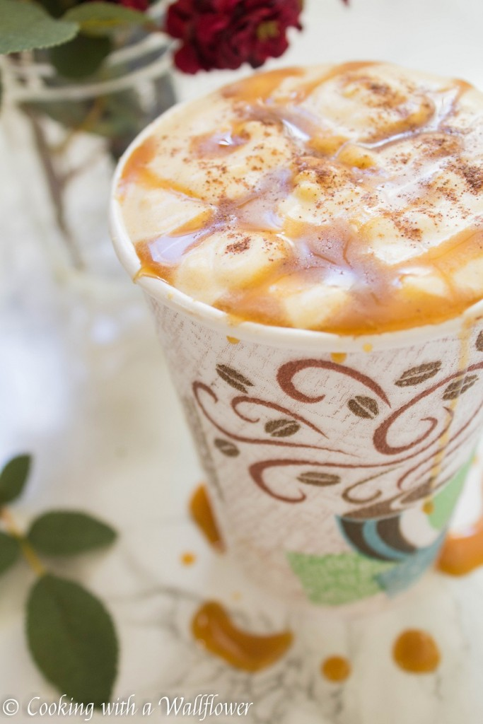 Pumpkin Hot Chocolate with Pumpkin Pie Spice Whipped Cream | Cooking with a Wallflower