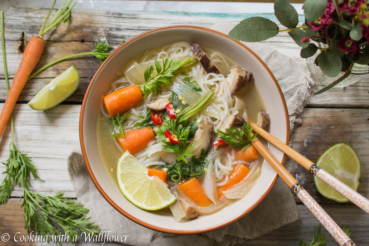 Asian Chicken Noodle Soup - Cooking with a Wallflower