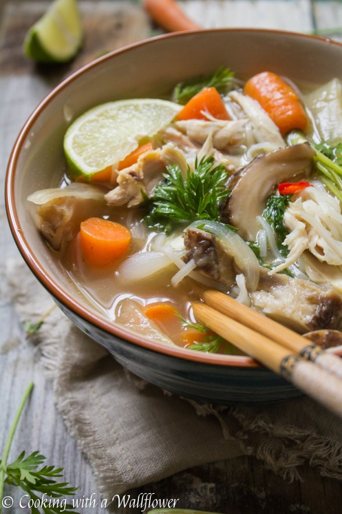 Asian Chicken Noodle Soup   Cooking with a Wallflower