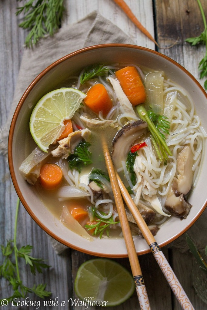 Asian Chicken Noodle Soup | Cooking with a Wallflower