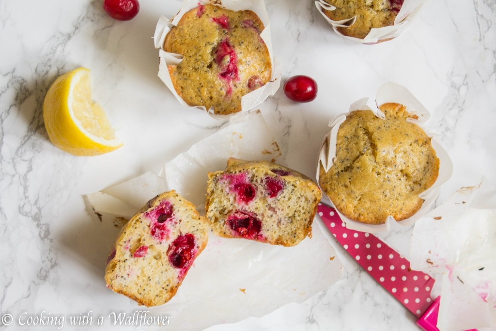 Cranberry Lemon Poppy Seed Muffins | Cooking with a Wallflower