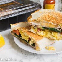 Scrambled Eggs Turkey Breakfast Quesadillas | Cooking with a Wallflower