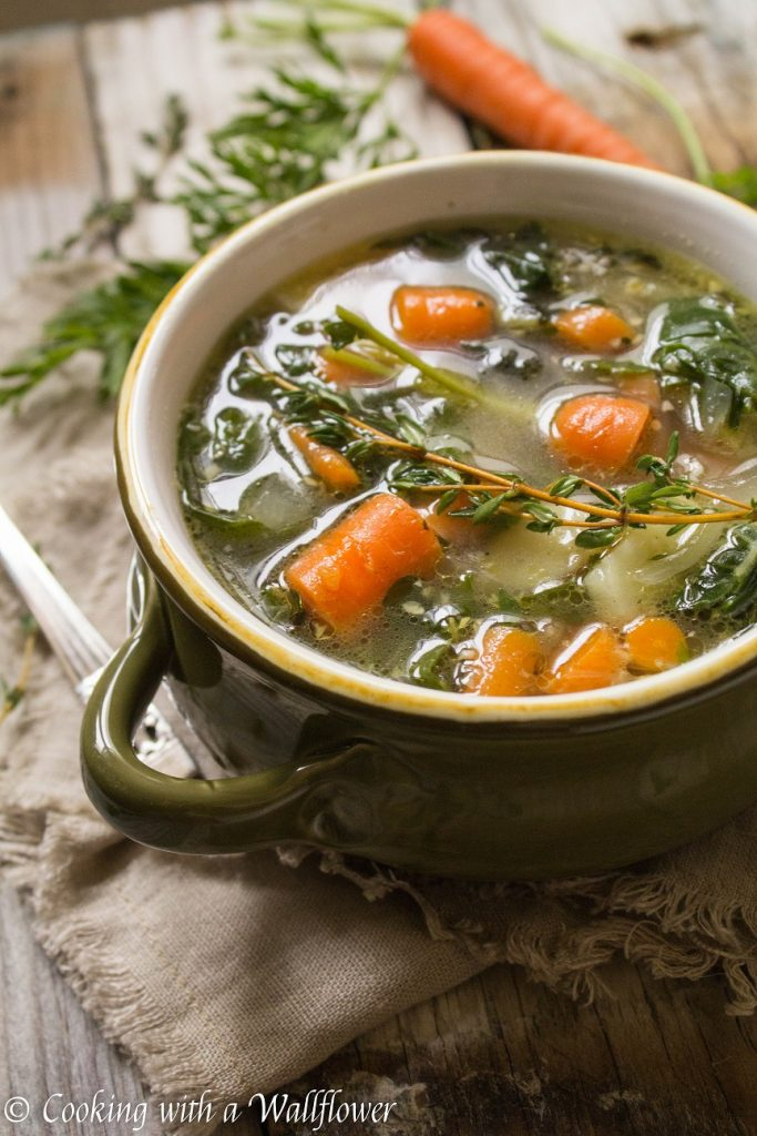 Winter Vegetable Soup | Cooking with a Wallflower